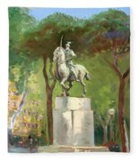 Rome Piazza Albania Fleece Blanket