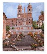 Rome-piazza Di Spagna Fleece Blanket