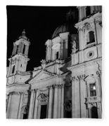 Rome - Piazza Navona - A View 3 Fleece Blanket