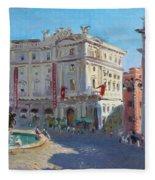 Rome Piazza Republica Fleece Blanket