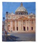 Rome Piazza San Pietro Fleece Blanket