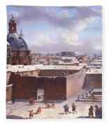 Rome Under The Snow Fleece Blanket