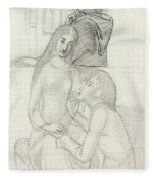 Romeo And Juliet, With Friar Lawrence Fleece Blanket