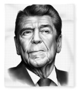 Ronald Reagan Fleece Blanket