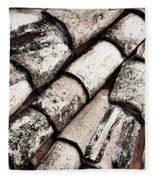 Roof Tile Abstract Fleece Blanket