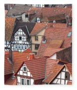 Roofs Of Bad Sooden-allendorf Fleece Blanket