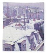 Roofs Under Snow Fleece Blanket