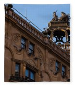 Rooftop Chariots And Horses - The Hippodrome Casino Leicester Square London U K Fleece Blanket