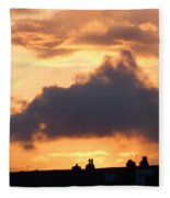 Rooftop Sunset 2 Fleece Blanket