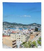 Rooftops Of Ibiza 4 Fleece Blanket