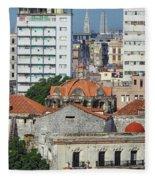 Rooftops Of Old Town Havana Fleece Blanket