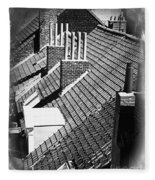 Rooftops Of Belgium Gothic Style Fleece Blanket