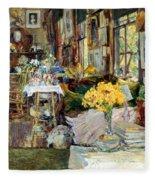 Room Of Flowers, 1894 Fleece Blanket