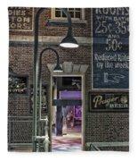 Rooms For Rent 25 Cents Signage Fleece Blanket