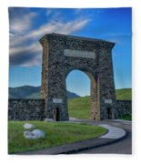 Roosevelt Arch At Yellowstone Dsc2522_05252018 Fleece Blanket