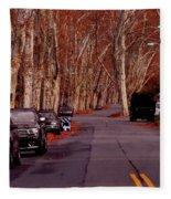 Roosevelt Avenue Red Fleece Blanket