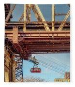 Roosevelt Tram Underneath The 59 St Bridge Fleece Blanket