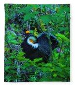 Rooster Grouse Posing Fleece Blanket