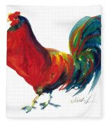 Rooster - Little Napoleon Fleece Blanket