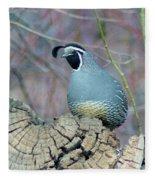 Rooster Quail  Fleece Blanket