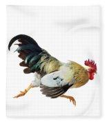 Rooster Running Fleece Blanket