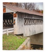 Root Rd Covered Bridge  Fleece Blanket
