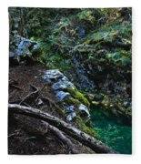 Rooted In Emerald  Fleece Blanket