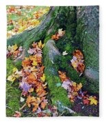 Roots And Leaves Fleece Blanket
