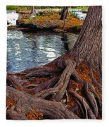 Roots On The River Fleece Blanket
