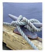 Rope And Bollard Fleece Blanket