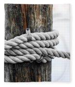 Rope Fence Fragment Fleece Blanket