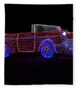 Rope Light Art 1957 Chevy Fleece Blanket
