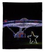 Rope Light Art Star Trek Enterprise Fleece Blanket