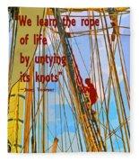 Rope Of Life Fleece Blanket