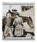 Roping Her Romeo 1919 Fleece Blanket