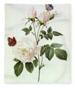 Rosa Bengale The Hymenes Fleece Blanket
