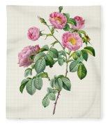 Rosa Mollissima Fleece Blanket