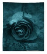 Rose - Green Fleece Blanket