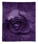 Rose - Purple Fleece Blanket
