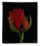 Rose 123 Fleece Blanket