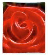 Rose-5856-fractal Fleece Blanket