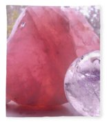 Rose And Clear Quartz 1 Fleece Blanket