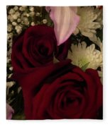 Rose And Lily Fleece Blanket