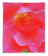 Rose And Raindrops Fleece Blanket