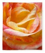 Rose Art Pink Yellow Summer Rose Floral Baslee Troutman Fleece Blanket