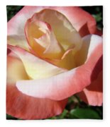 Rose Artwork Floral Pink White Roses Baslee Troutman Fleece Blanket