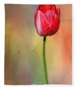 Red Tulip At Sunset By Kaye Menner Fleece Blanket