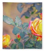 Rose At Sunset Fleece Blanket