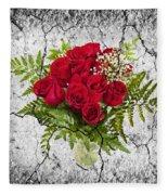 Rose Bouquet Fleece Blanket