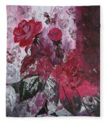 Rose Burst Fleece Blanket